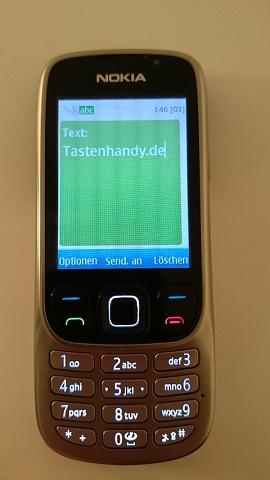 Textnachricht verfassen auf dem Nokia 6303i Tastenhandy