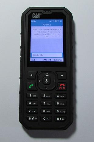 Auf dem Cat B35 Tastenhandy läuft nach einem Update nun auch Whatsapp.
