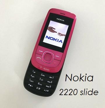 Das Nokia Schiebehandy 2220 Slide in der Farb pink.