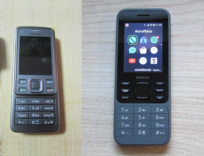 Das Bild zeigt das Nokia 6300i sowie das Nokia 6300 4G im Vergleich.