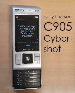 Hier sieht man das Sony Ericsson C905 Cyber-shot Schiebehandy.